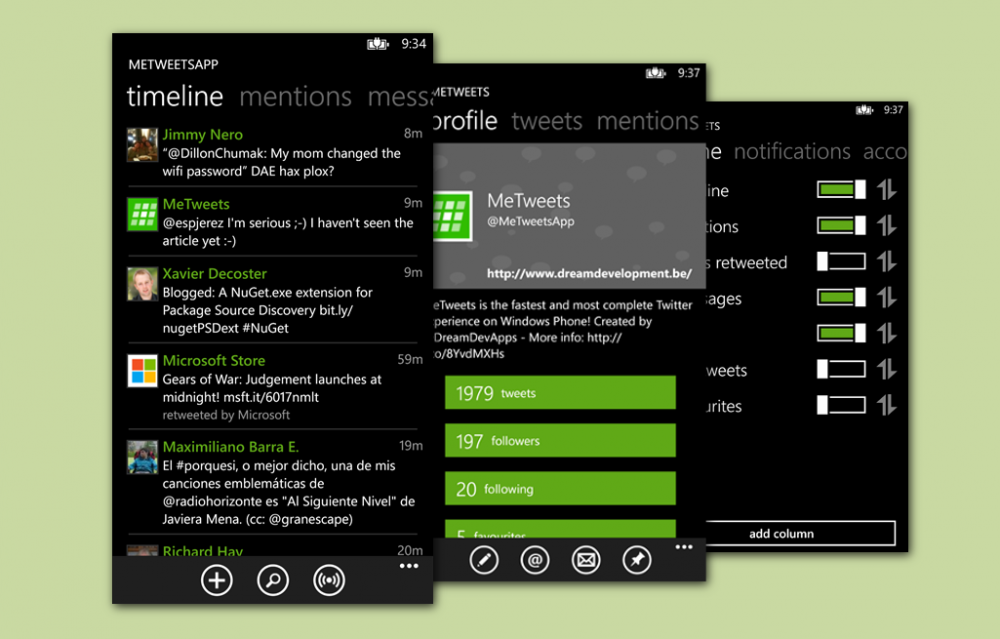 L'application MeTweets pour Windows Phone est gratuite: profitez-en!