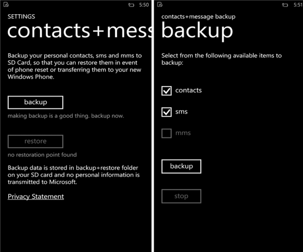 Changez de Lumia sans perdre vos SMS grâce à Contacts+Message
