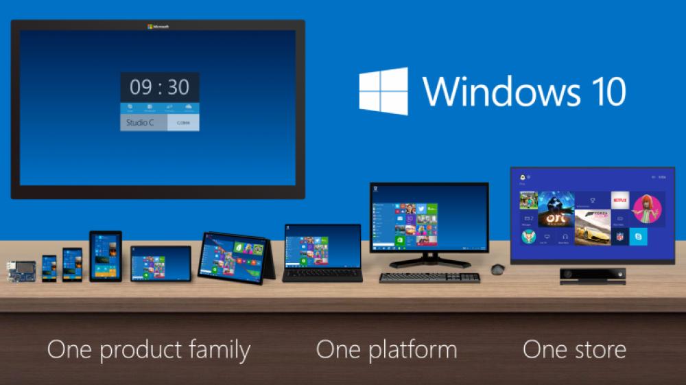 Microsoft annonce les 6 éditions majeures de Windows 10