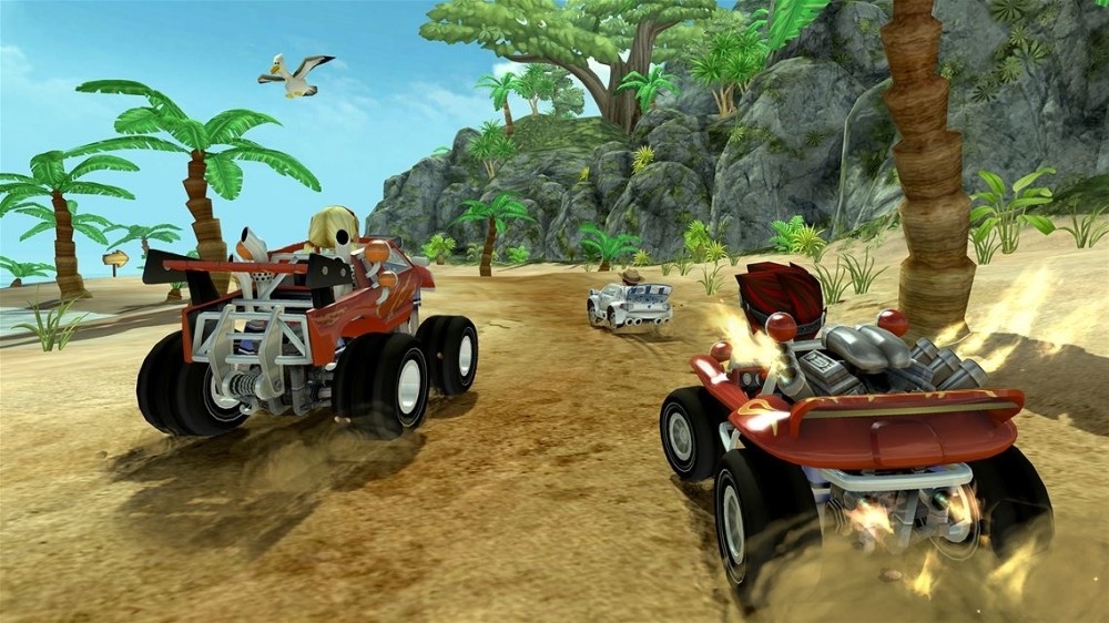 Beach Buggy Racing trace sa route sur Xbox One