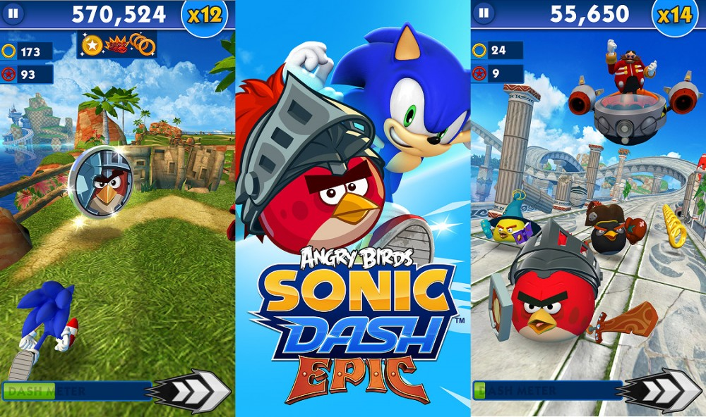 Les Angry Birds s'incrustent dans Sonic Dash sur Windows Phone