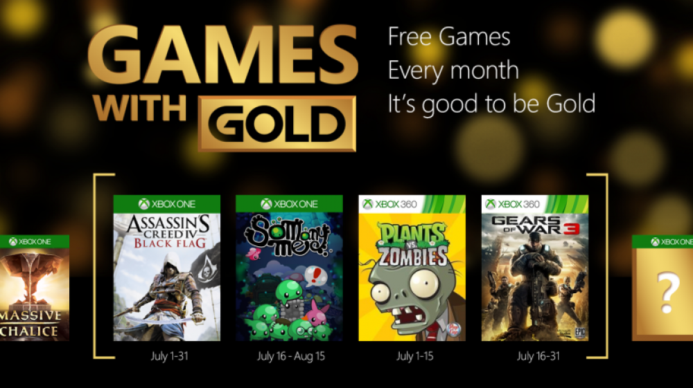 Games With Gold: Gears of War 3 & Assassin's Creed seront gratuits en juillet!