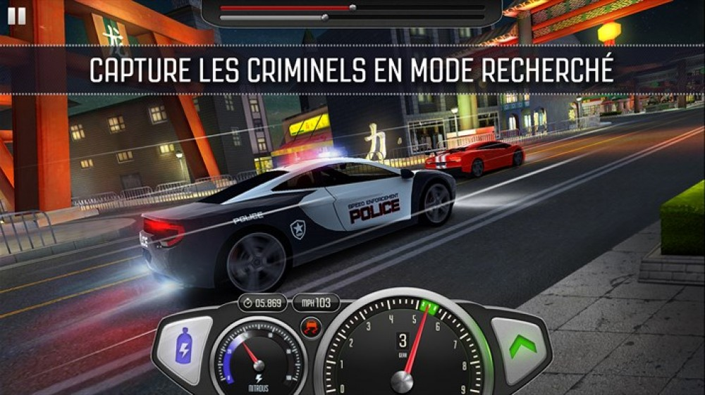 Top Speed: Drag & Fast Racing est disponible sur Windows Phone