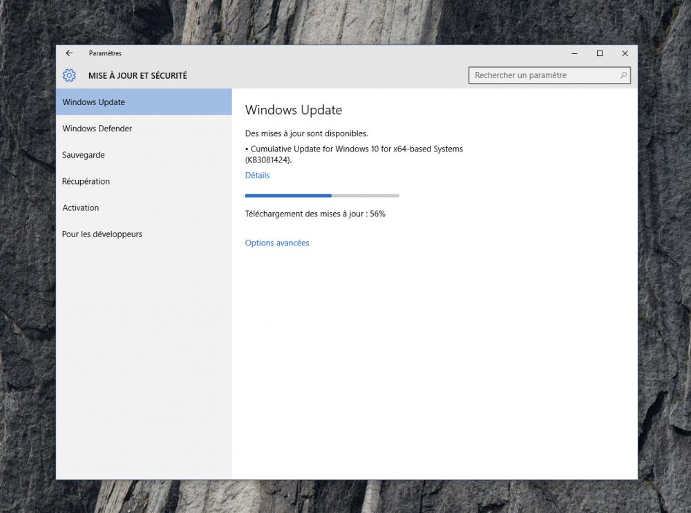 Microsoft publie une importante mise à jour «cumulative» pour Windows 10