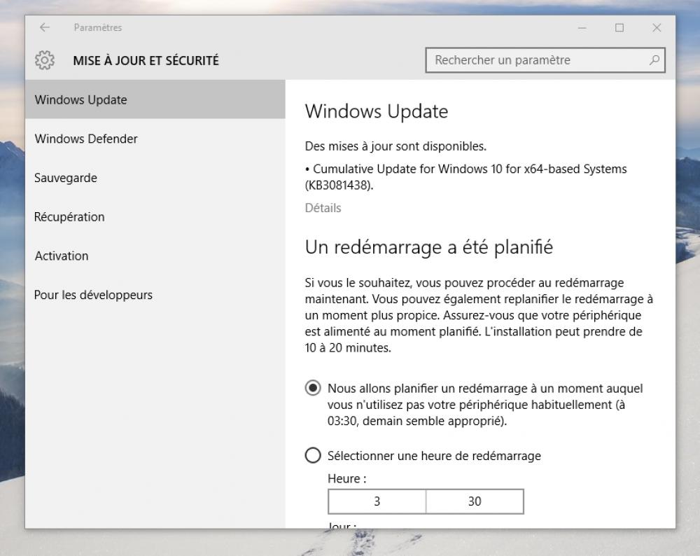 Windows 10: Microsoft publie une nouvelle mise à jour cumulative