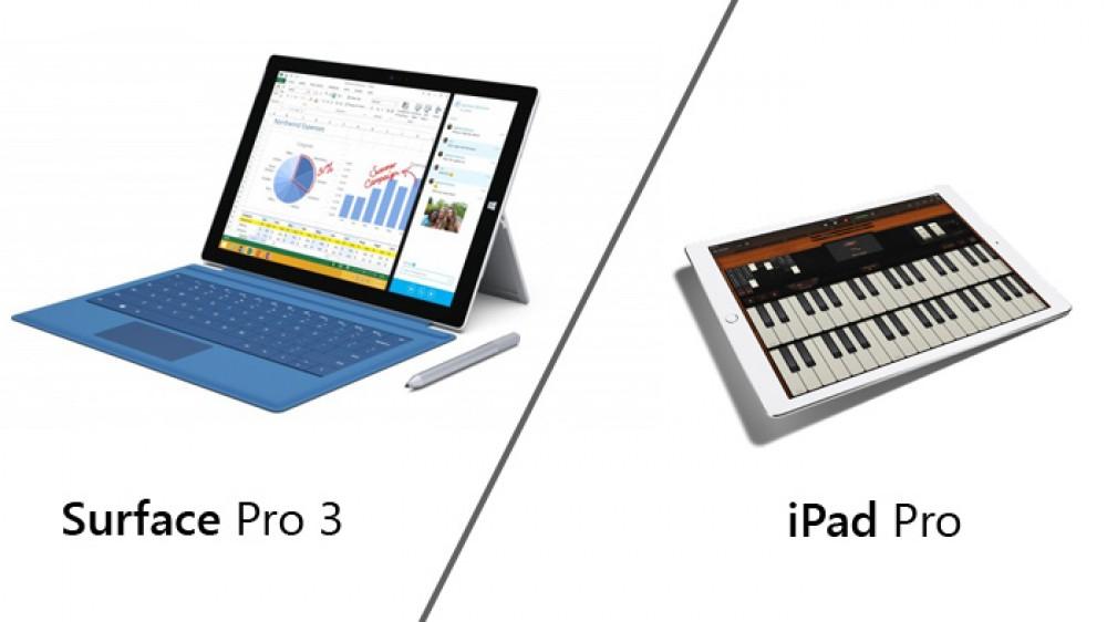 Apple annonce l'iPad Pro: comparaison avec la Surface Pro 3 de Microsoft