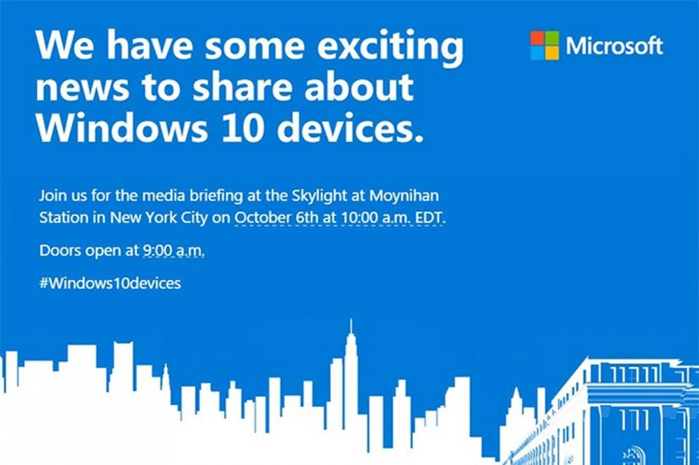 La Surface Pro 4 & les nouveaux Lumia 950 et 950XL seront présentés le 6 Octobre à New York