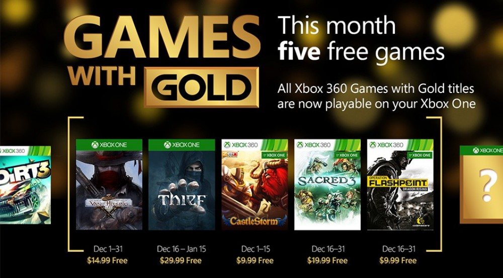 [Bon Plan] Games with Gold: CastleStorm et Thief gratuits en Décembre