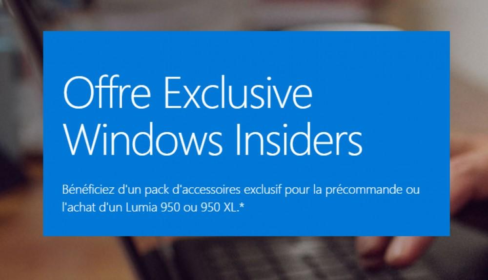[Bon Plan] 230€ d'accessoires offerts pour la pré-commande d'un Lumia 950 ou 950 XL!