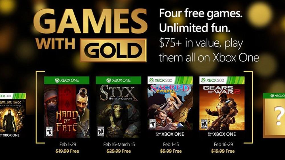 Xbox: 4 jeux gratuits en Février dont Gears of War 2 grâce à Games With Gold