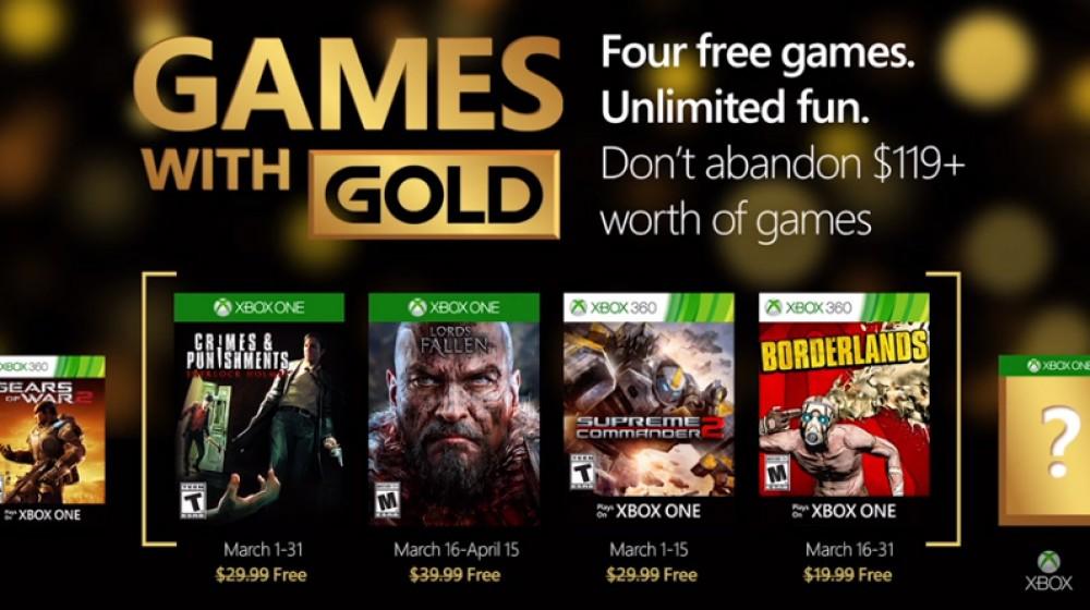 Xbox: voici les 4 jeux gratuits du mois de Mars grâce à Games With Gold