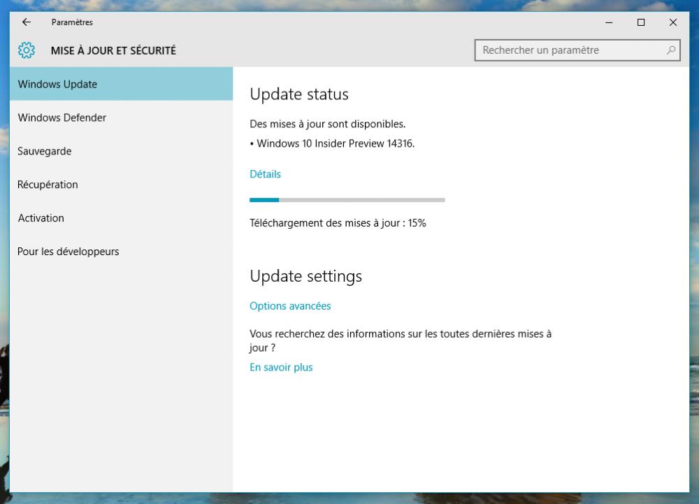 Le nouveau Build 14316 de Windows 10 est disponible pour les insiders avec de nombreuses améliorations!