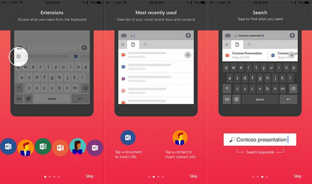 Hub: Microsoft Garage publie son clavier virtuel pour iOS