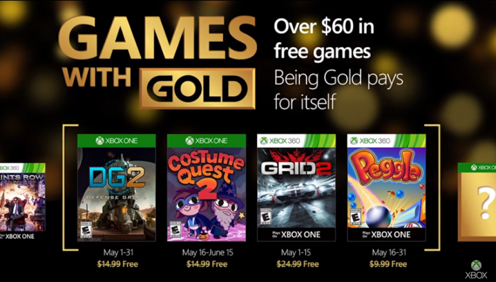 Games With Gold: Grid 2 & Costume Quest 2 gratuits en Mai 2016