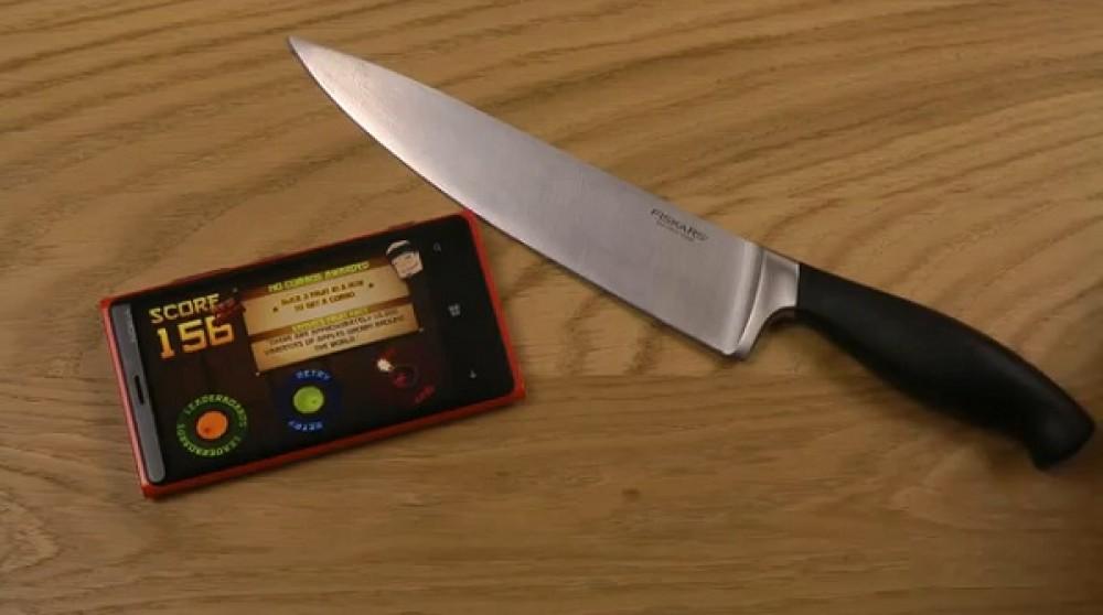 Jouer à Fruit Ninja avec un vrai couteau!