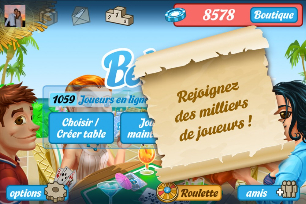 Enfin de la belote en ligne sur Windows Phone!
