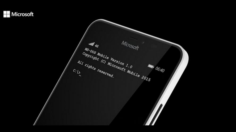 Microsoft lance MS-DOS mobile pour les smartphones Lumia