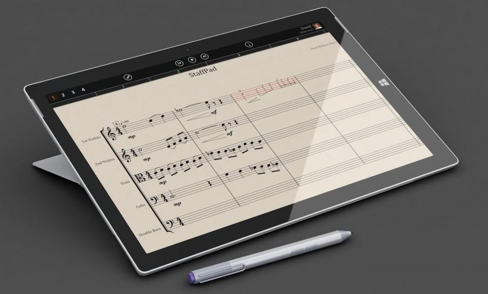 StaffPad: enfin une utilité au stylet de la Surface!