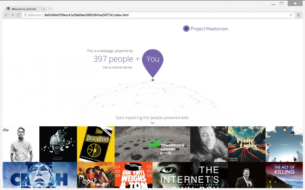 Maelstrom, le navigateur du futur de BitTorrent est disponible en version Beta