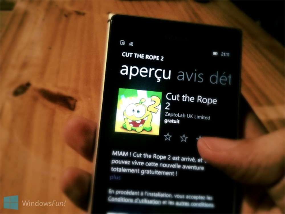 Cut The Rope 2 est de retour sur Windows Phone
