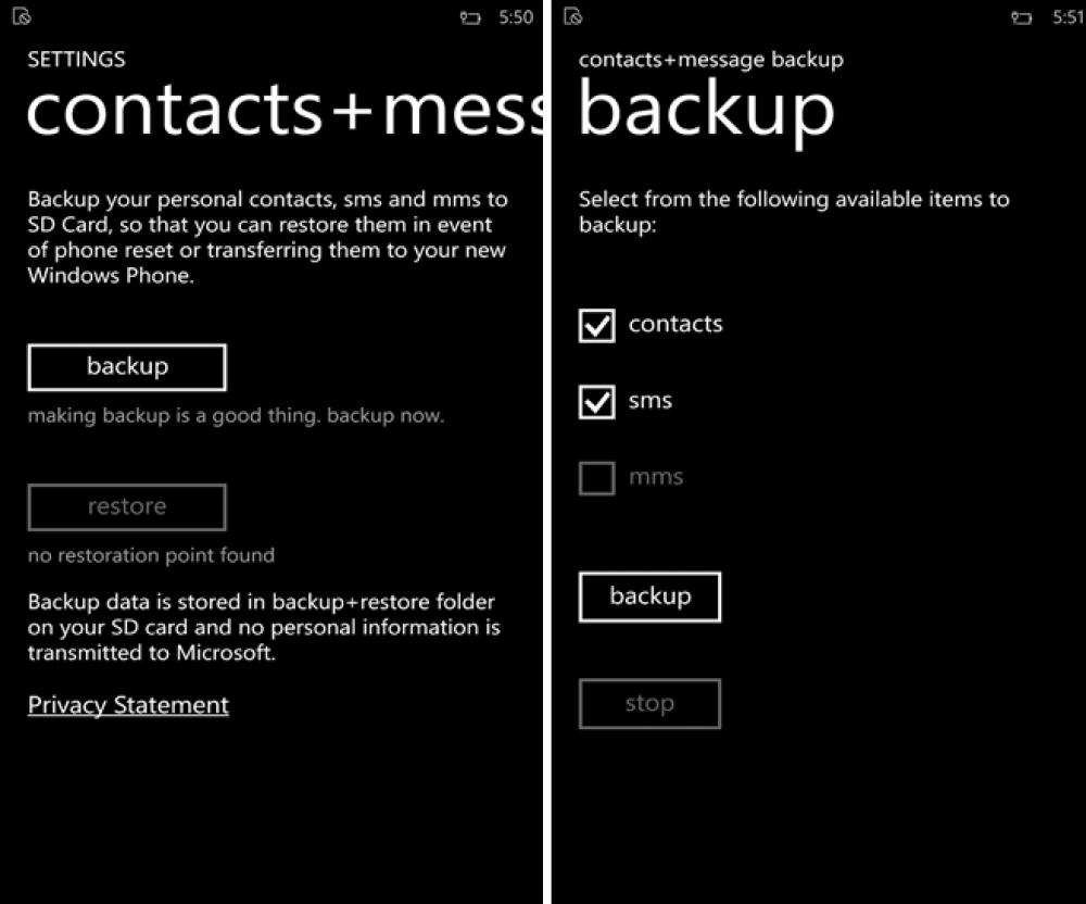 Changez de Lumia sans perdre vos SMS grâce à Contacts+Message