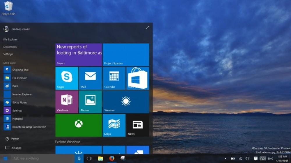 Windows 10 version 10074 a fuité: voici les premières captures d'écran et les images ISO