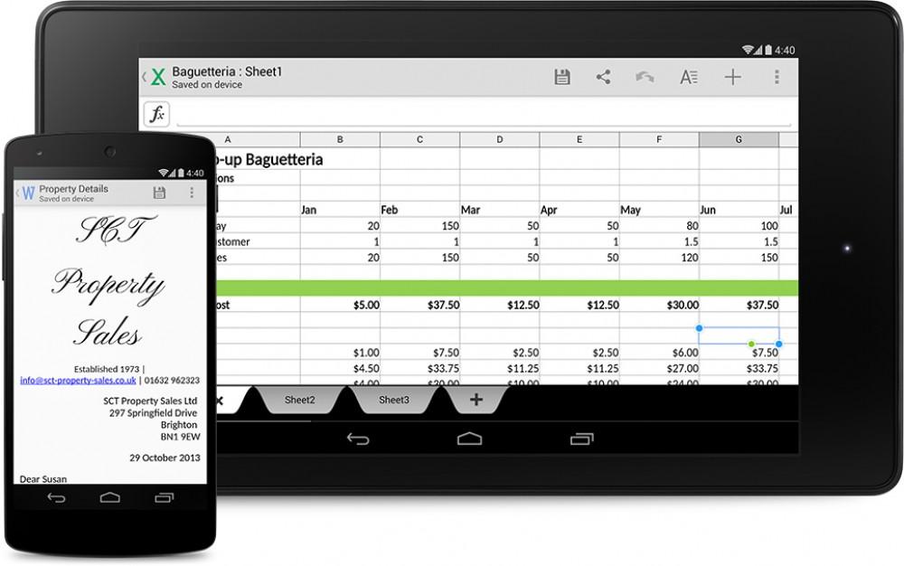 Office sera pré-installé sur 20 fabriquants de téléphones Android