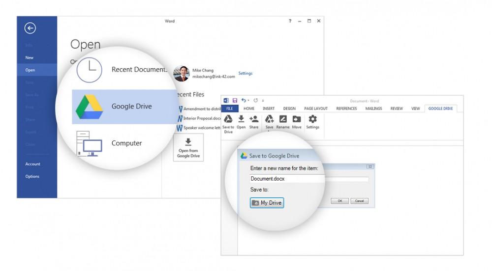 Google publie une extension pour accéder à Google Drive à partir de Office