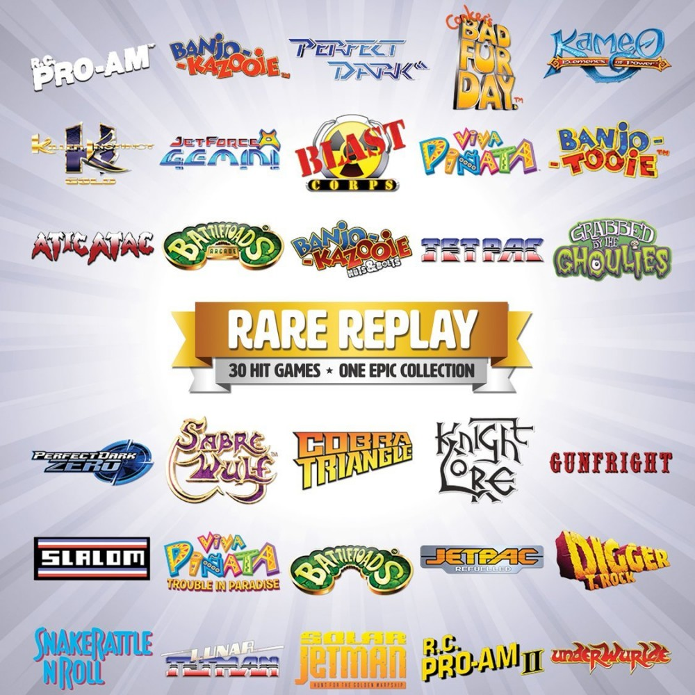 Rare Replay sort aujourd'hui: voici la liste complète des jeux!