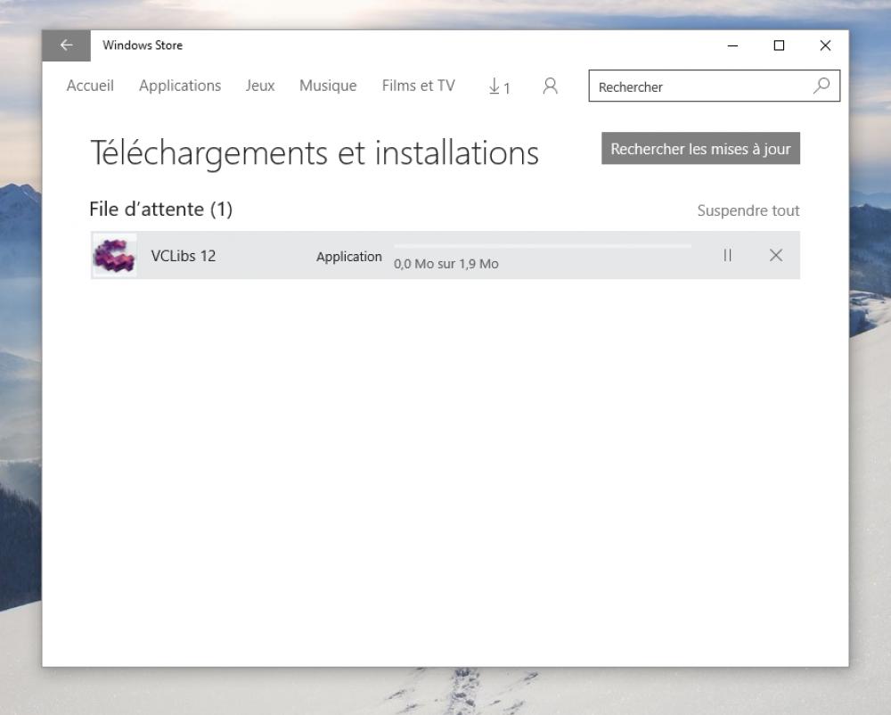 Store Windows 10: comment fixer les téléchargements bloqués