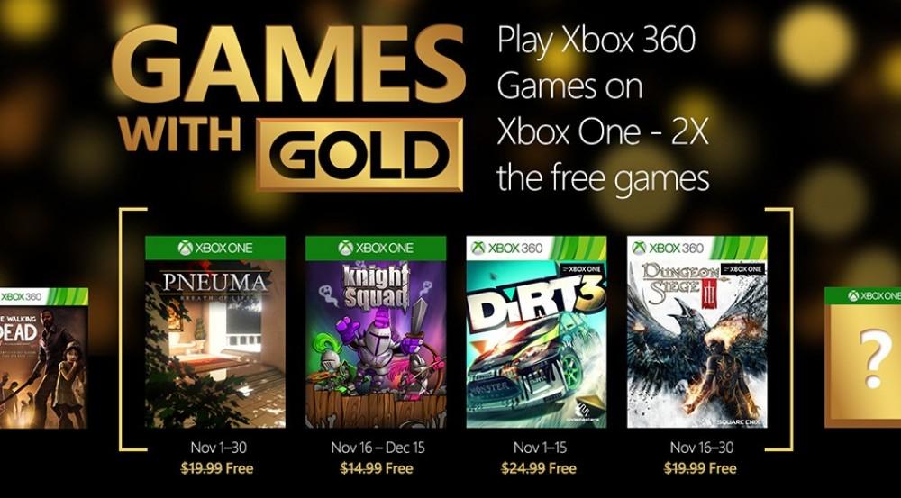Games With Gold: la liste des jeux Xbox gratuits en Novembre
