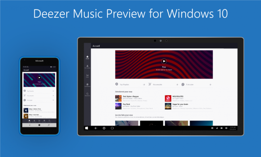 Deezer: testez la version beta de l'application Windows 10