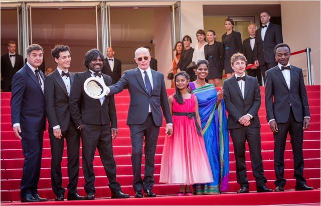 l'équipe du film de Deephan à Cannes 2015