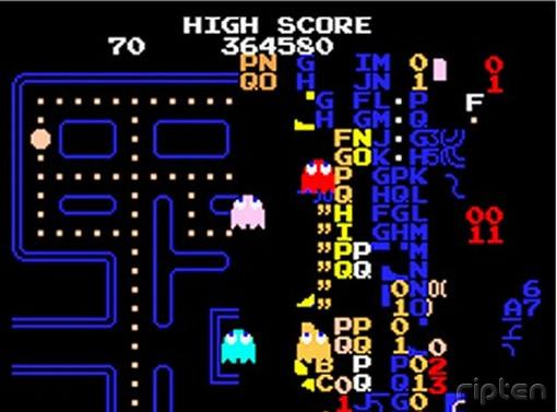 Voici le bug apparaissant sur le jeu original sur borne d'arcade