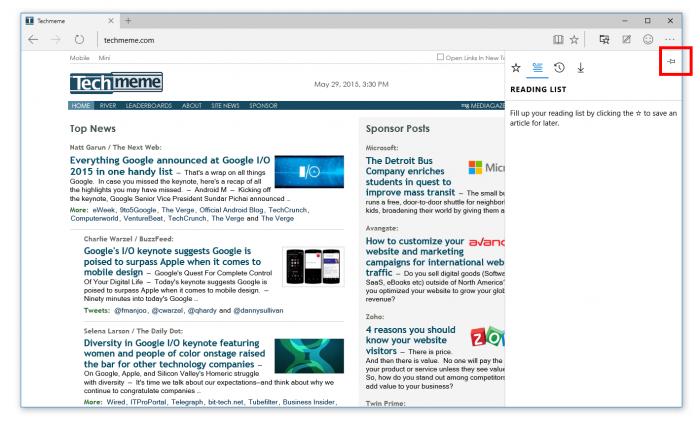 Epinglez vos favoris grâce à la nouvelle version de Microsoft Edge