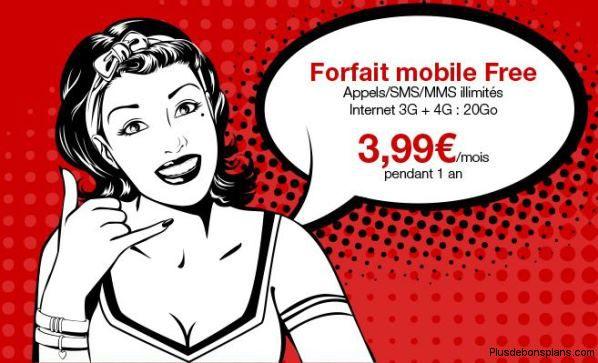 bon plan le forfait free mobile 4g 20go 3 99 au lieu de 19 99 windowsfun
