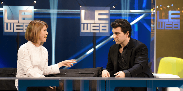 Brian Chesky, lors d'une interview à LeWeb