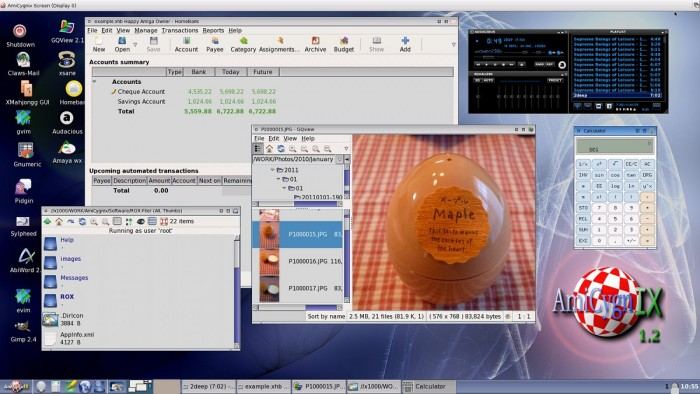 L'AmigaOS 4.1 Final Edition, la dernière version de l'OS de l'Amiga, sortie en 2015.