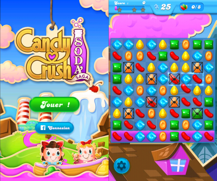 Candy Crush Soda version Android fonctionne parfaitement sur Windows Phone