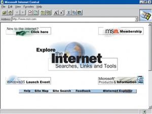 Voici à quoi ressemblait Internet Explorer 1.0 en 1995