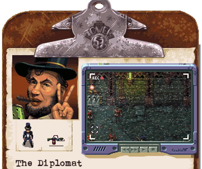La présentation des personnages fait fortement penser à Chaos Engine des Bitmap Brothers