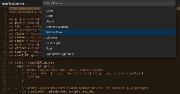 Visual Studio Code vient enfin avec plus de choix de thèmes