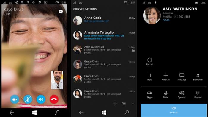 La nouvelle application Skype pour Windows 10 Mobile