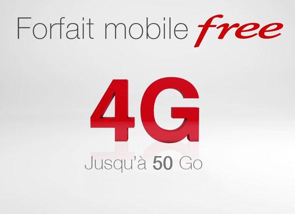 Free propose maintenant jusqu'à 50Go de données en 4G dans ses forfaits