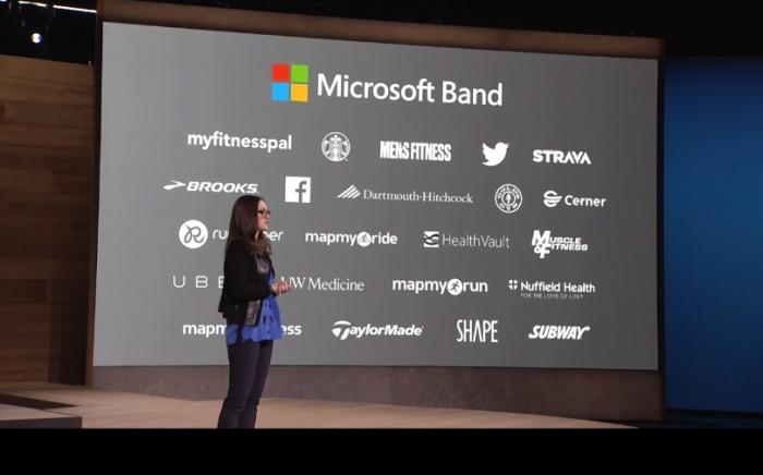 Les nombreux partenaires de Microsoft Band 2