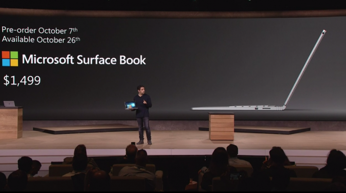 Le Surface Book sera disponible dès le 26 Octobre