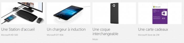 Tous ces accessoires vous seront offerts lors de l'achat d'un Lumia 950/XL! On dit merci qui ? :)