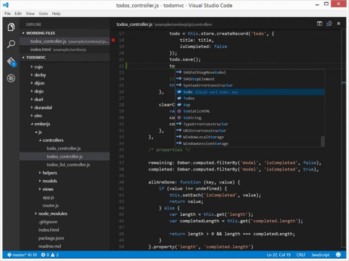 Visual Studio Code est une des nombreuses applications à utiliser Node.js