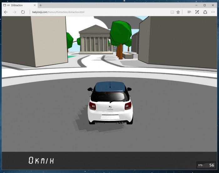 La démonstration DiStraction fonctionne bien-entendu sur Microsoft Edge