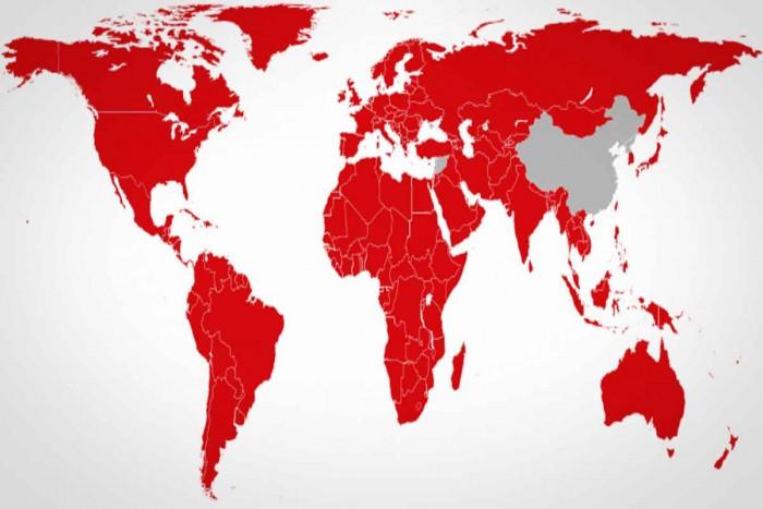 Netflix est disponible sur presque toute la planète